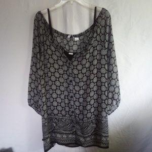 Liz Claiborne Woman Plus Size Blouse Cami Set 2X